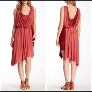 NWT free people Eleanor draped Tuscan red dress